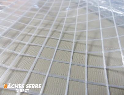 Bache serre de jardin 400g/m² PVC - 2.1x7m - bache transparente armée pour serre - serre tunnel