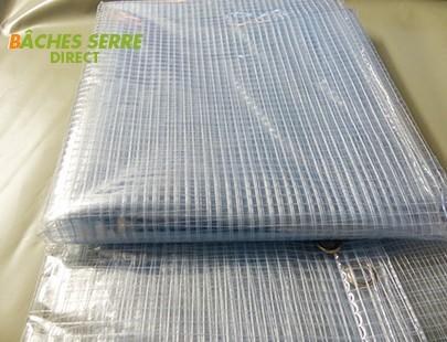 Bache serre de jardin 400g/m² PVC - 2.1x10m - bache transparente armée pour serre - serre tunnel