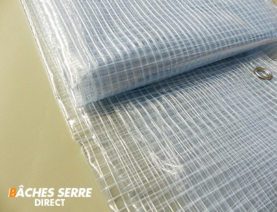 Bache serre de jardin 400g/m² PVC - 5.8 x 9m - bache transparente armée pour serre - serre tunnel