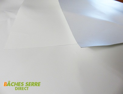 Bache serre tunnel de jardin 680g/m²  PVC - 6 x 8m  - serre plastique - serre tunnel