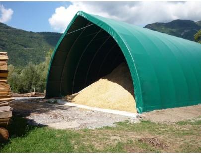 Bache serre tunnel de jardin 680g/m²  PVC - 8 x 12m  - serre plastique - serre tunnel