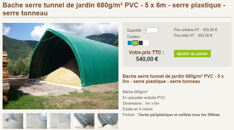 Prix serre tunnel awesome fabrication duune serre tunnel for Tunnel agricole prix